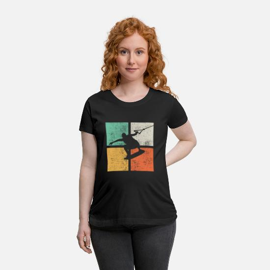 Surfer T-Shirts - Wakeboarding Wakeboarding - Maternity T-Shirt black