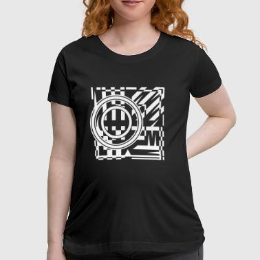 abstract graphic tattoo pattern - Women's Maternity T-Shirt