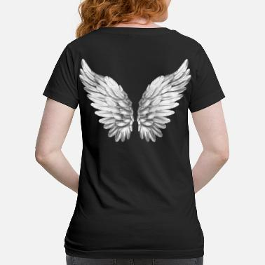 Angelwings Angel Wings White Silver Angelwings - Maternity T-Shirt