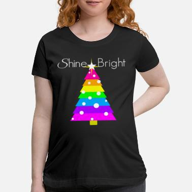 Little Stars Rainbow Christmas Tree Bright Little Star Holiday - Maternity T-Shirt