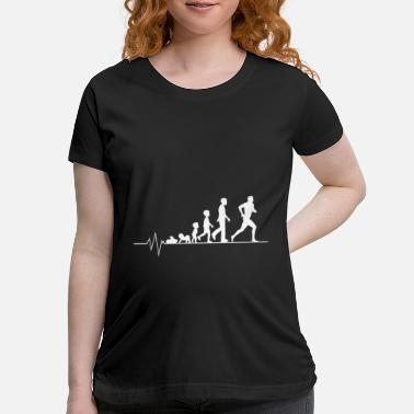Right Running athlete - Maternity T-Shirt