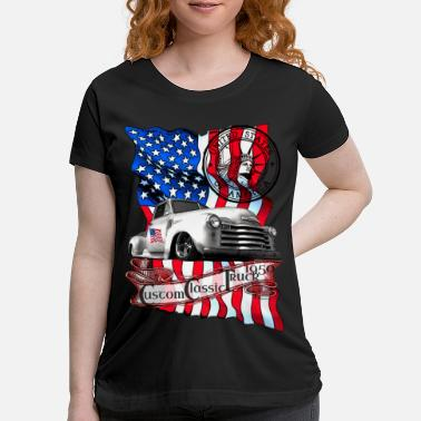 Custom Classic Pickup Truck United States - Maternity T-Shirt