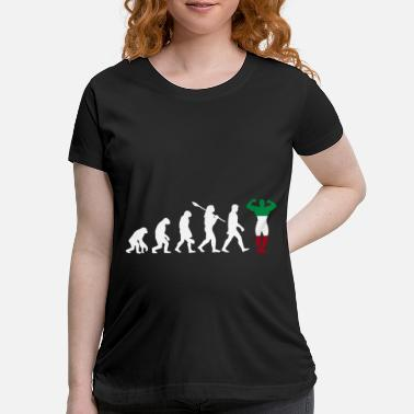 Italy Italy country gift evolution fitness - Maternity T-Shirt