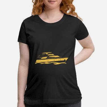 Water Sports boat ship sport waves sea gift - Maternity T-Shirt