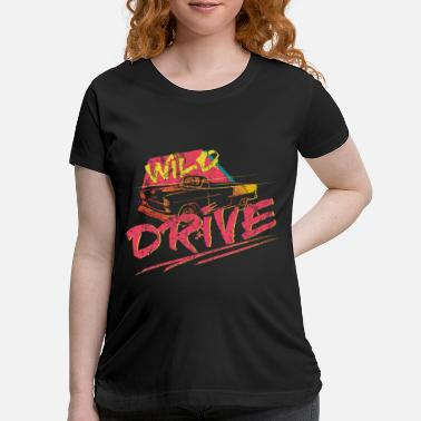 Speed Car Retro Vintage Gift - Maternity T-Shirt