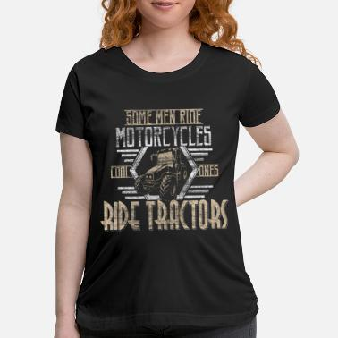 Bulldog Tractor agriculture Gift - Maternity T-Shirt