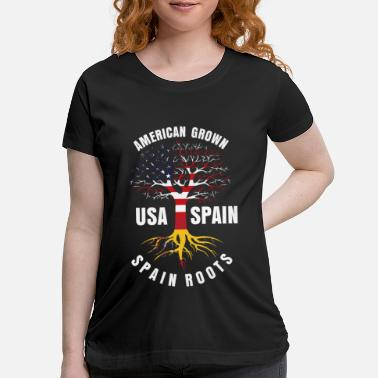 Spain Spain usa america roots - Maternity T-Shirt