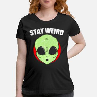 Spacemonster Alien Retro Alien Gift - Maternity T-Shirt