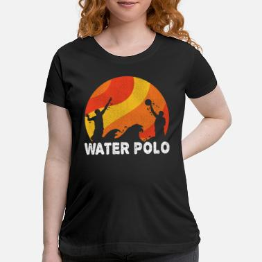 Offence Waterpolo Retro Water Polo Swimmers Sport Gift - Maternity T-Shirt