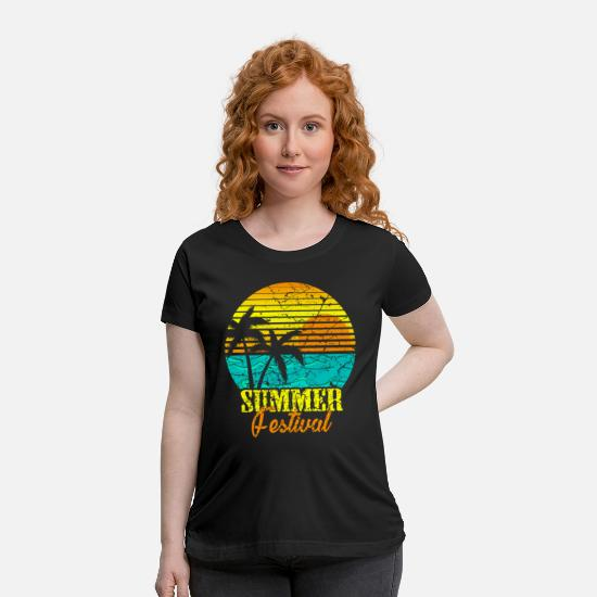 Gift Idea T-Shirts - Retro Summer Festival Musik Party Gift - Maternity T-Shirt black