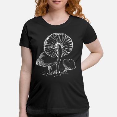 Botanical Vintage Botanical Fungi Magic Mushroom Botany Gift - Maternity T-Shirt