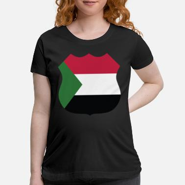 Country sudan sign - Maternity T-Shirt
