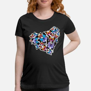 Wing Butterfly heart - Maternity T-Shirt