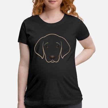 Love I love Golden Retriever tshirt - Maternity T-Shirt