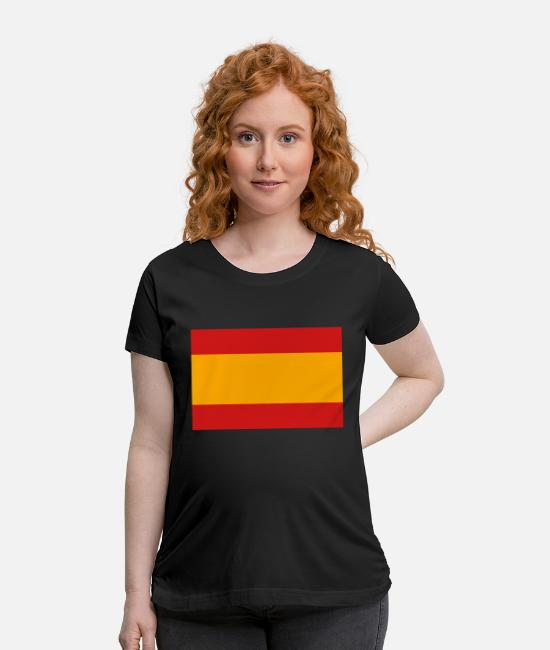 Don Quijote T-Shirts - National Flag Of Spain - Maternity T-Shirt black