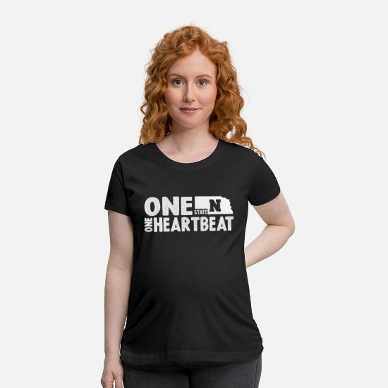 Team T-Shirts - One State One Heartbeat Shirt - Maternity T-Shirt black