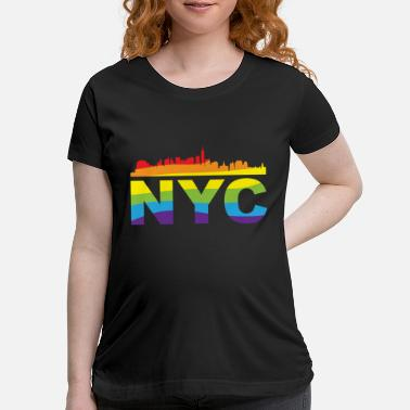 Nyc NYC Pride Skyline LGBT - Maternity T-Shirt