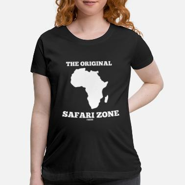 Tourist African safari vacation wilderness Gift - Maternity T-Shirt