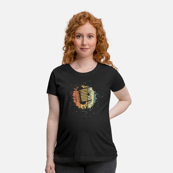 Pop T-Shirts - Singer Music - Maternity T-Shirt black