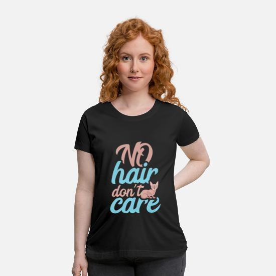 Career T-Shirts - No hair don´t care - Maternity T-Shirt black