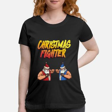 Beat Em Up Christmas Fighter - Retro Style For Christmas - Maternity T-Shirt