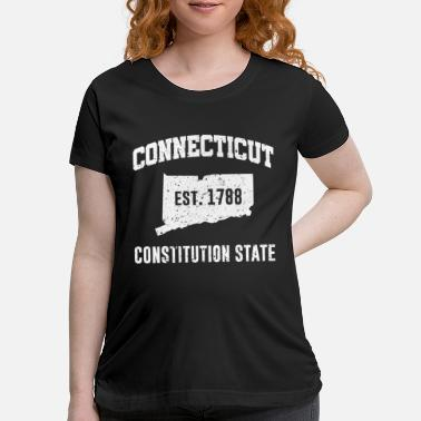 State Connecticut State Line The Constitution State - Maternity T-Shirt