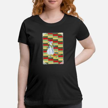 Advent SKIING SNOWMAN! GIFT IDEA FOR THE ADVENT - Maternity T-Shirt