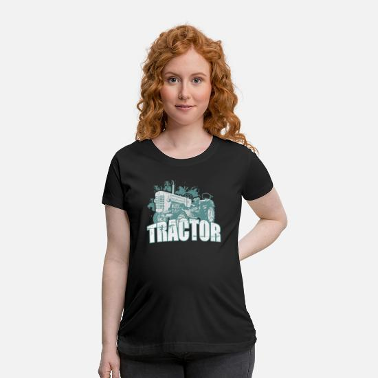 Country T-Shirts - Tractor design - Maternity T-Shirt black