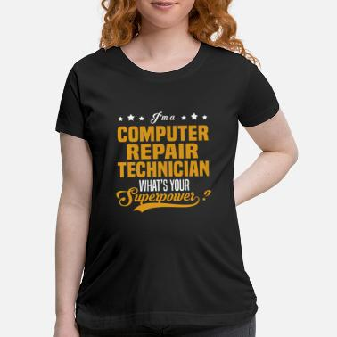 Computer Computer Repair Technician - Maternity T-Shirt