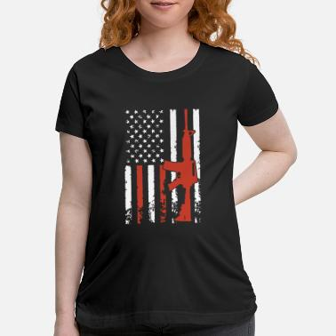 Mouse demeletion american flag gun t shirts - Maternity T-Shirt