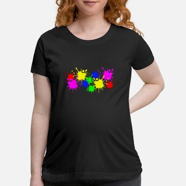 Color Splashes of color splashes of color color color du - Maternity T-Shirt