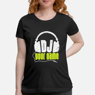 DJ Your Name Personalised New Funny T-shirt Rave House Birthday Present Gift