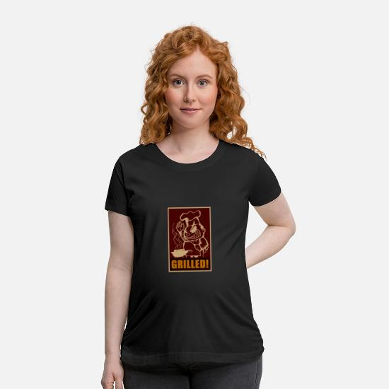 Christmas T-Shirts - Barbecue - Maternity T-Shirt black