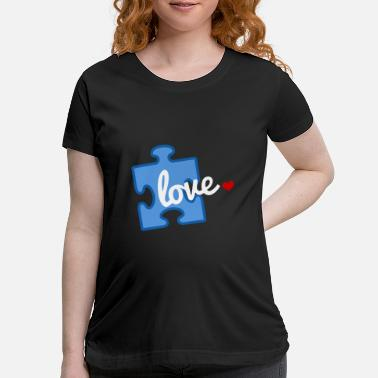 Puzzle Autism Awareness Puzzle Piece Love Hanes Tagless T - Maternity T-Shirt
