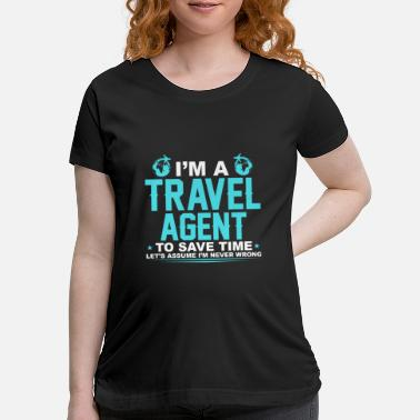 Agent Travel Agent - Maternity T-Shirt