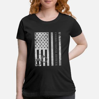 Silver Title:- Thin Silver Line Correctional Officer T-Sh - Maternity T-Shirt