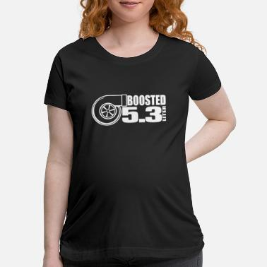 BOOSTED BLACK turbo swap truck engine motor nitrou - Maternity T-Shirt
