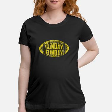SUNDAY FUNDAY Beer Drinking Couch Surfing NFL Foot - Maternity T-Shirt