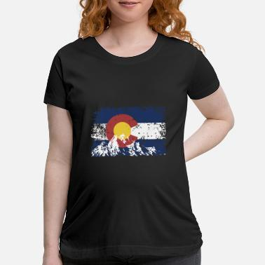 Denver Mountains mountain country america cowboy university denver - Maternity T-Shirt