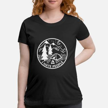 i hate people for camping loves fire moon black an - Maternity T-Shirt