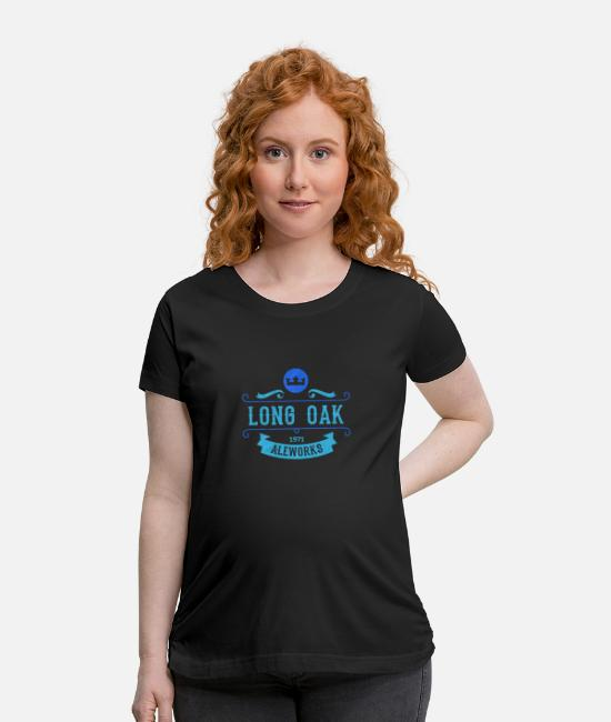 Brewery T-Shirts - Long Oak Aleworks | Retro Beer IPA Lager Amber - Maternity T-Shirt black