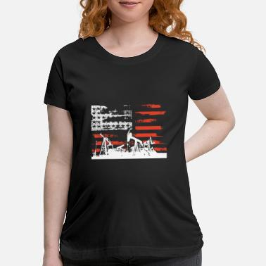 Politics Oilfield Patriotic Flag With Oil Pumping Rig ameri - Maternity T-Shirt