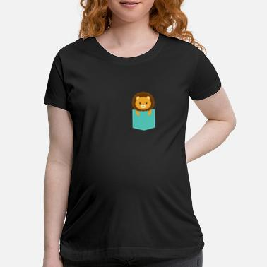 Baby Lion Baby Lion in a pocket - Maternity T-Shirt