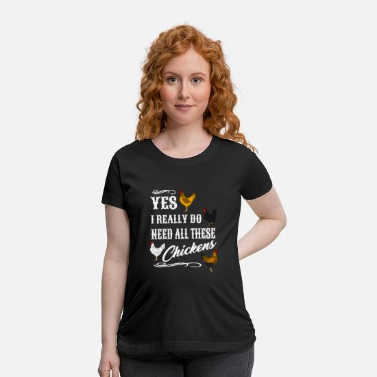 Chicken T-Shirts - farmer - tractor - Maternity T-Shirt black