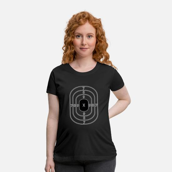 Gun T-Shirts - Shooting Shoot Guns and Rifles Hobby Sport - Maternity T-Shirt black