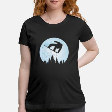 Bigfoot Thanksgiving Day Snowboard Bigfoot Ski Funny Sasquatch Skiing - Maternity T-Shirt