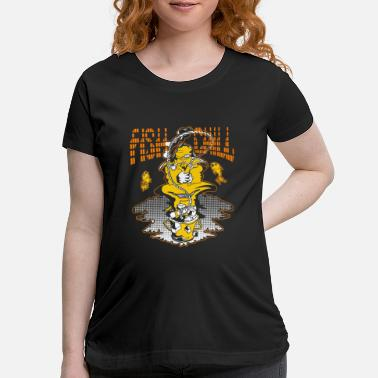 Hook Line And Chill Ice Fishing Fish Chill - Maternity T-Shirt