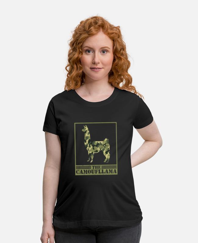 Funny Camoufllama Pun Joke Camouflage Camo Llama Maternity T Shirt Spreadshirt