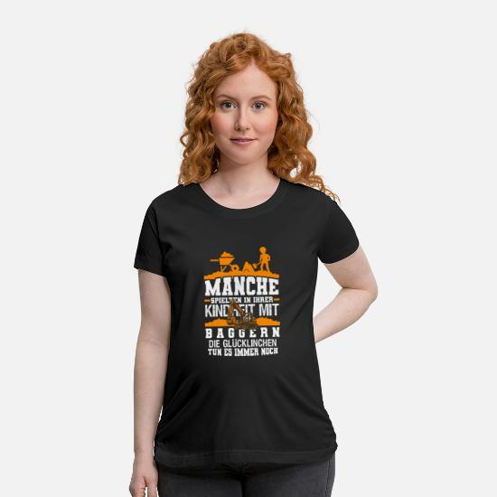 Construction Worker T-Shirts - Construction Worker - Maternity T-Shirt black