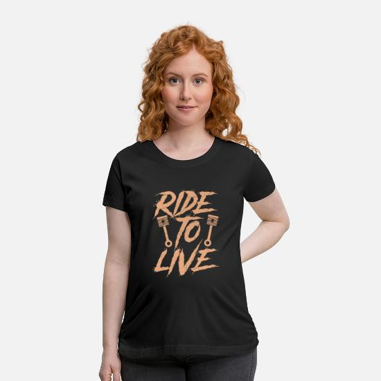 Motorcycle T-Shirts - Driving to life - Maternity T-Shirt black